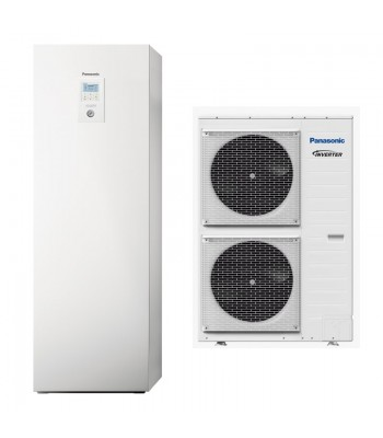 Heating and Cooling Bibloc Panasonic Aquarea All-In-One Compact KIT-ADC12HE5C-CL