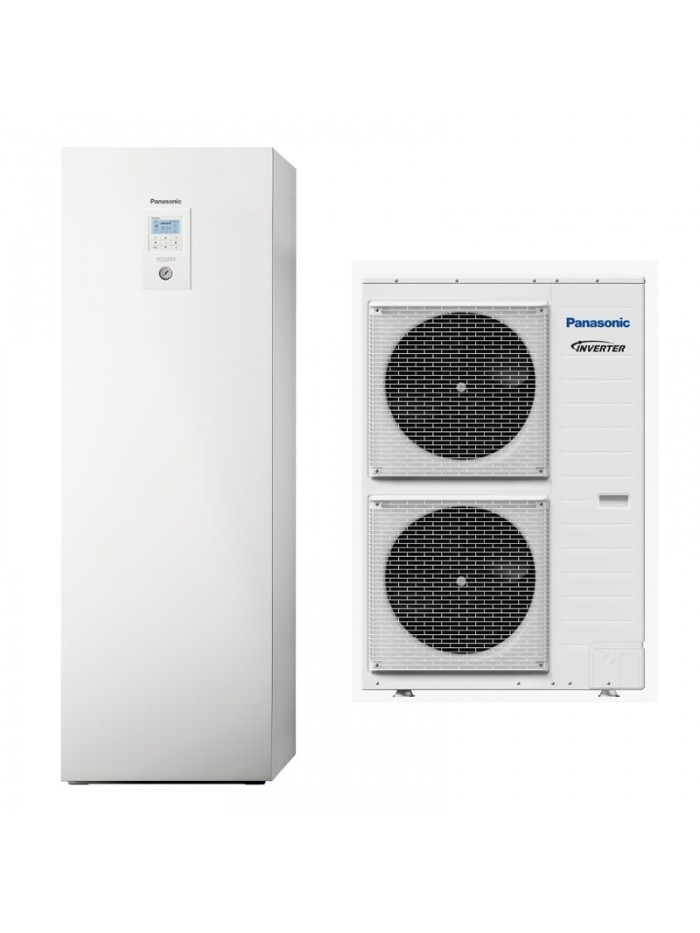 Heating and Cooling Bibloc Panasonic Aquarea T-CAP All-In-One Compact KIT-AXC12HE5C-CL