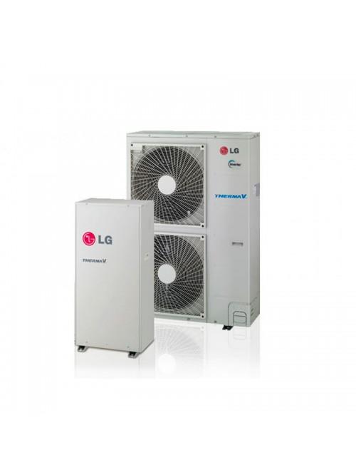 Air-to-Water Heat Pumps LG Therma V High Temperature HU161HA.U33 + HN1610H.NK3