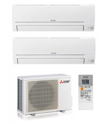 Multi Split Air Conditioner Mitsubishi Electric MSZ-HR25VF+MSZ-HR35VF + MXZ-2HA40VF