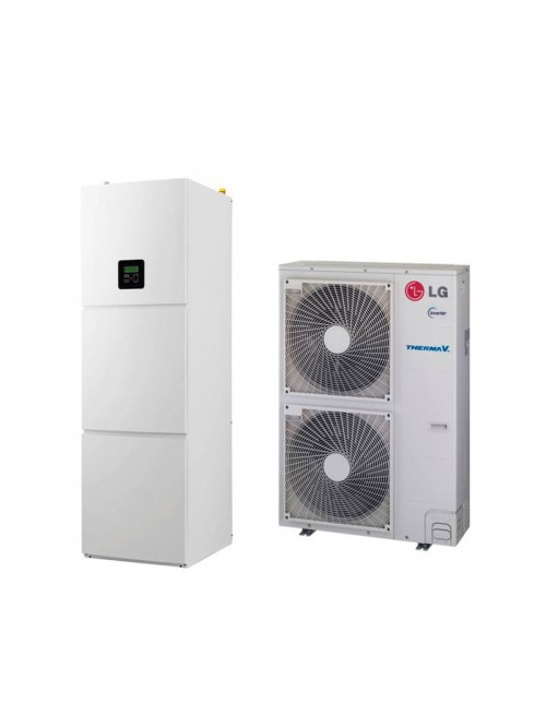Air-to-Water Heat Pumps LG Therma V Wall Split Hydromodul HU163.U33 + HN1616T.NB0 Three-phase
