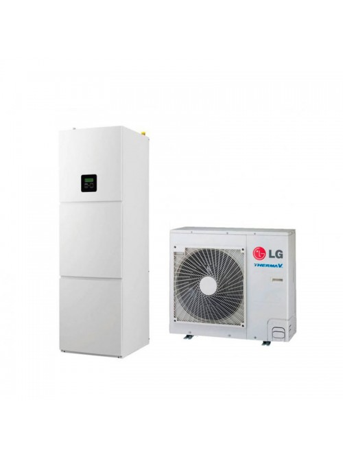 Air-to-Water Heat Pumps LG Therma V Wall Split Hydromodul HU091.U43 + HN1616T.NB0