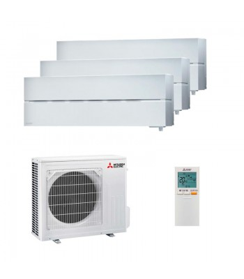 Multi Split Air Conditioner Mitsubishi Electric 3 x MSZ-LN18VGW + MXZ-3F54VF
