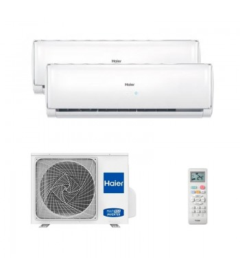 Air Conditionné Multi Split Haier Geos + 2U50S2SM1FA + 2 x AS25TADHRA-TH