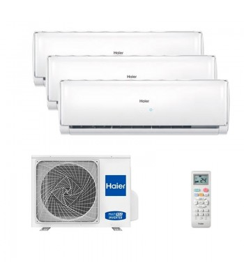 Air Conditionné Multi Split Haier Geos + 4U85S2SR2FA + AS25TADHRA-TH + 2 x AS35TADHRA-TH