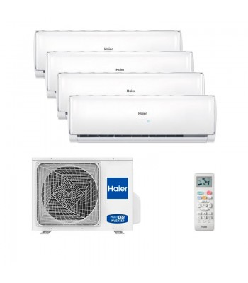 Air Conditionné Multi Split Haier Geos + 5U105S2SS2FA + 2 x AS25TADHRA-TH + 2 x AS35TADHRA-TH