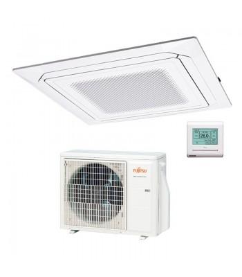Cassette Air Conditioner Fujitsu Inverter White AUXG24KRLB + AOYG24KATA