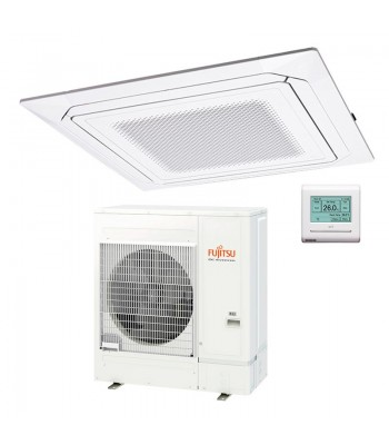 Cassette Air Conditioner Fujitsu Inverter White AUXG45KRLB + AOYG45KATA