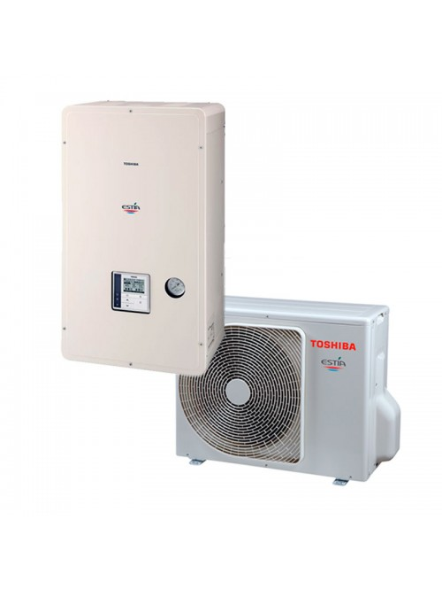 Air-to-Water Heat Pump Systems Heating and Cooling Bibloc Toshiba  Estia Mini