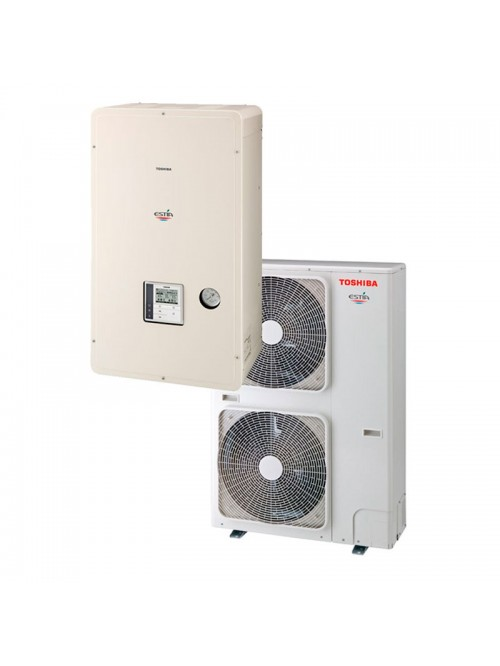 Air-to-Water Heat Pump Systems Heating and Cooling Bibloc Toshiba Split Monofásico 60ºC Estia Omega