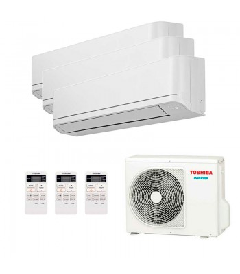 Multi Split Air Conditioner Toshiba 3 x RAS-B07J2KVG-E + RAS-3M18U2AVG-E