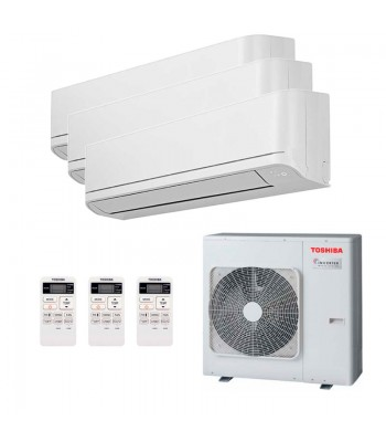 Aire Acondicionado Multi Split Toshiba 2 x RAS-B10J2KVG-E + RAS-B13J2KVG-E + RAS-3M26U2AVG-E