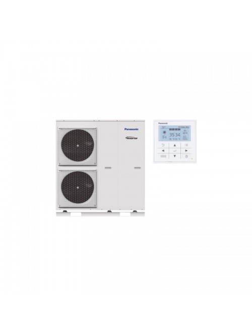 Air-to-Water Heat Pump Systems Heating and Cooling Monobloc Panasonic Aquarea T-CAP KIT-MXC16H9E8-CL