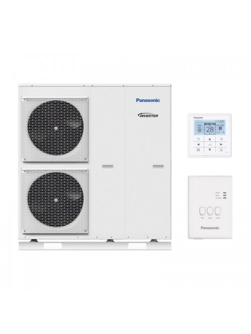 Air-to-Water Heat Pump Systems Heating and Cooling Monobloc Panasonic Aquarea T-CAP KIT-MXC12J6E5-CL
