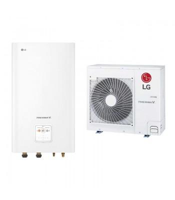 Heating and Cooling Bibloc LG Therma V Split Hidrokit Mural R32 HN091MR.NK5 + HU051MR.U44