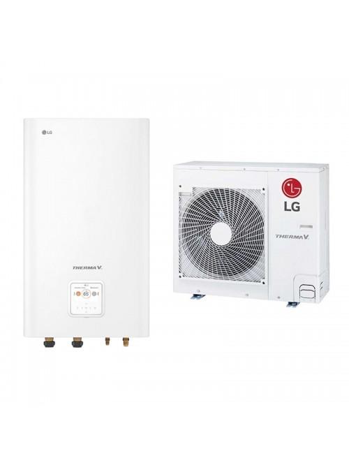 Air-to-Water Heat Pump Systems Heating and Cooling Bibloc LG Therma V Split HN091MR.NK5 + HU071MR.U44