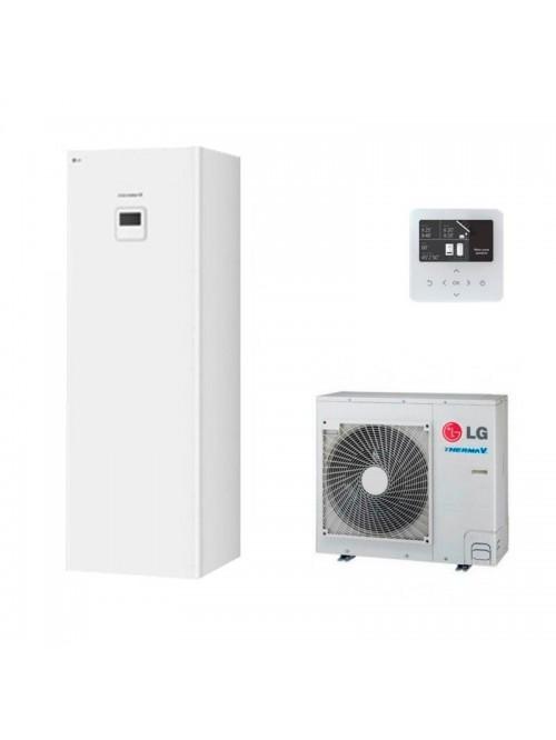 Air-to-Water Heat Pump Systems Heating and Cooling Bibloc LG Therma V Hidromodul R34 HN0916T.NB1 + HU091MR.U44