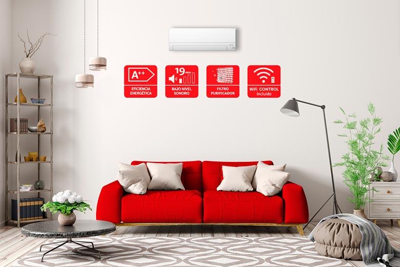 Nuevo Aire Acondicionado doméstico MSZ-BT de Mitsubishi Electric con Wi-Fi y filtro purificador
