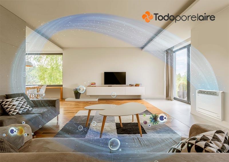 La climatización facilita los sistemas de purificación del aire.