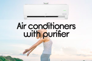 Air conditioners with purifier